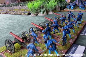 Union Artillery In Action At Bristoe Station.