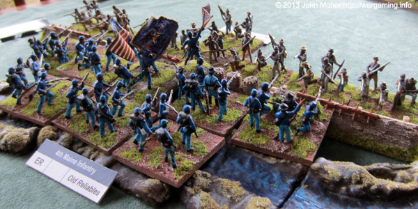 The 4th Maine's Brave Initial Assault Of The Earthworks!