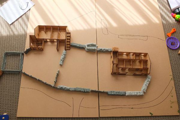 The Full Size, Roughly To Scale, Proposed Rorke's Drift Layout.