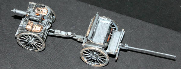 Mark's scratch built German machine gun carriage and limber