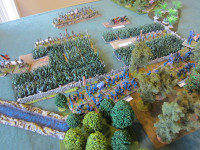 The Union Attack Develops - the leading regiments are through the woods