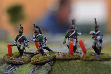 My Dragoons defend the main road