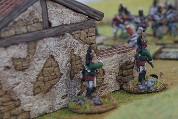 My surviving Dragoons endeavour to work round the British Flank