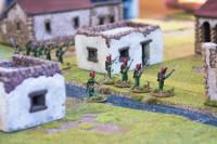 The Nassau-Unsingen Infantry cross the stream.
