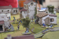 The French & British Infantry now duke it out to decide the action - the French Infantry now being especially aggressive.