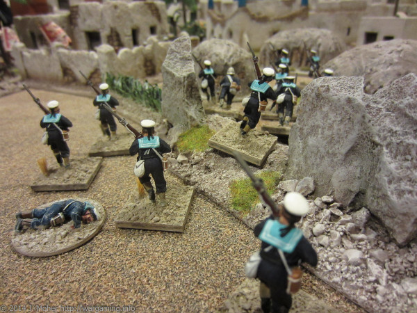 The Naval Brigade storm into the East side of Berber!