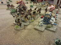 Outside the town the 2nd Ja'alin Band has instead charged the position of Shawish Niyamuthulla's artillery!