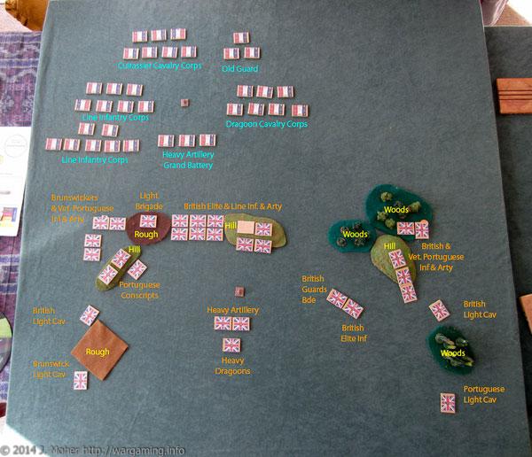A Blücher Playtest Game Initial Deployment