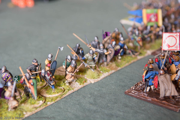 Dux Bellorum Norman vs Carolingian infantry clash