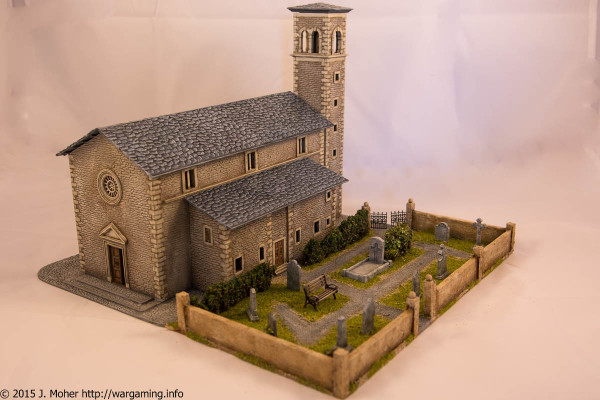 Italeri Church - Front Right Three-Quarter View