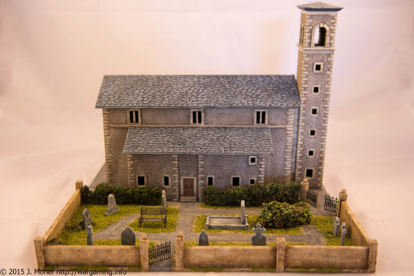Italeri Church - Right Side View with Cemetery