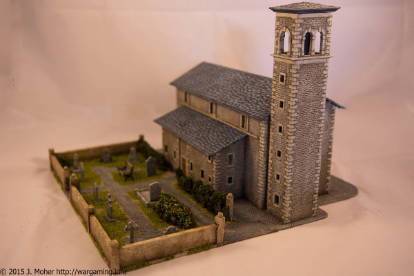 Italeri Church - Right Rear Three-Quarter View