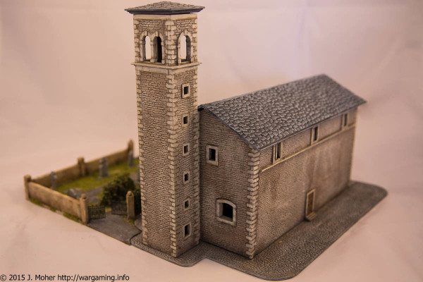 Italeri Church - Left Rear Three-Quarter View