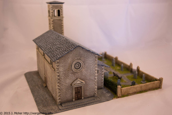 Italeri Church - Left Front Three-Quarter View