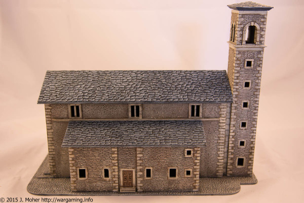 Italeri Church - Right Side sans Graveyard