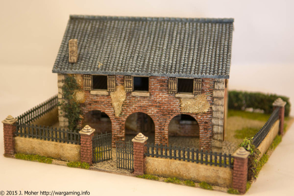 1/72 Italeri Country House with Porch - Front View