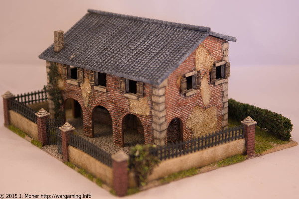 1/72 Italeri Country House with Porch - Right Three-Quarter View