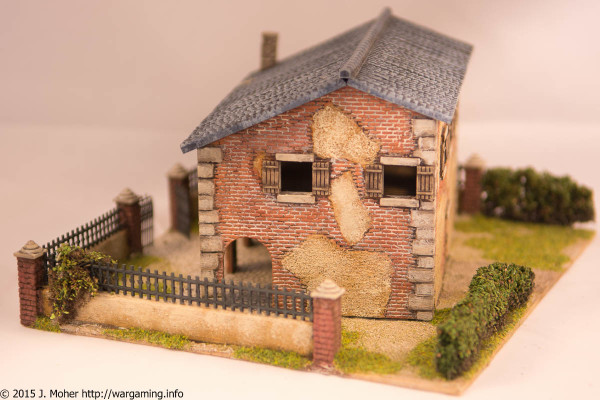 1/72 Italeri Country House with Porch - Right Side View