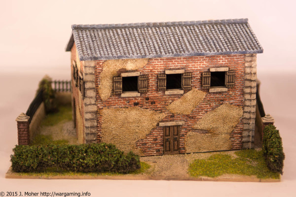 1/72 Italeri Country House with Porch - Rear View