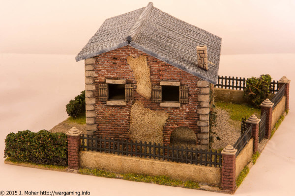 1/72 Italeri Country House with Porch - Left Side View