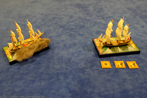 Dryade cops a second broadside from HMS Sybille - Wargaming.info