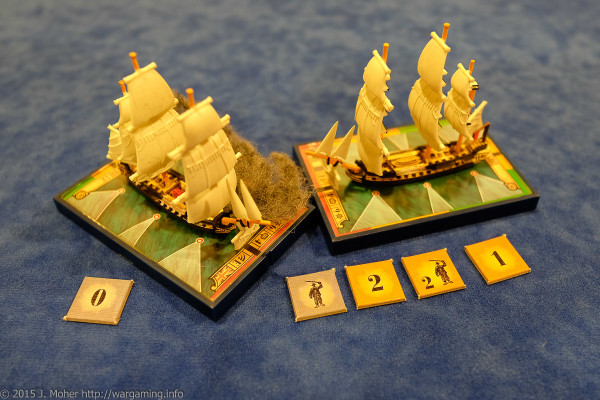 Dryade collides with HMS Sybille and is raked - Wargaming.info
