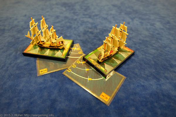 Dryade flukily avoids a stern rake from HMS Sybille - Wargaming.info