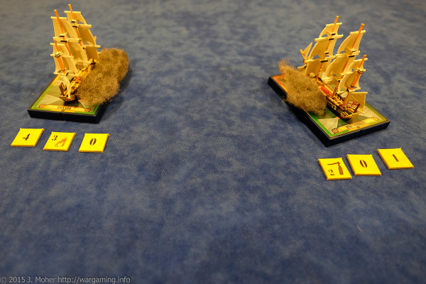 Dryade and HMS Sybille exchange broadsides - Wargaming.info