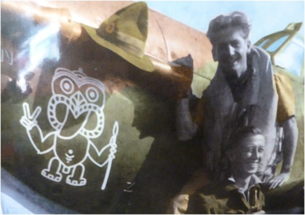 135 Squadron Tiki Nose Art RAF India 1943