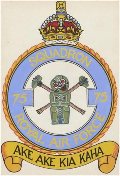 No. 75 Squadron's Tiki Crest & Motto, RAF 1943