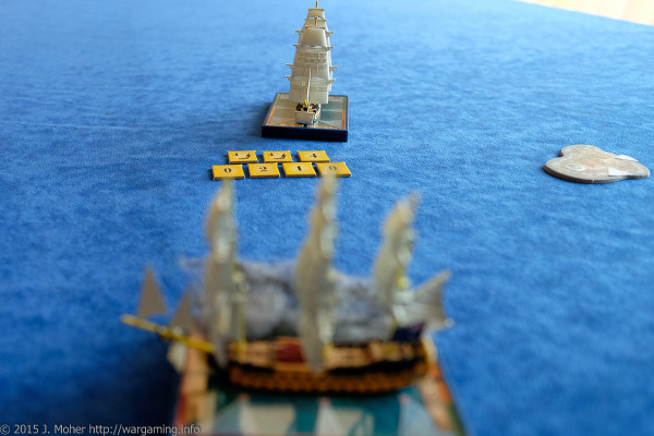 HMS Vanguard takes on the Duguay-Trouin Wargaming.info