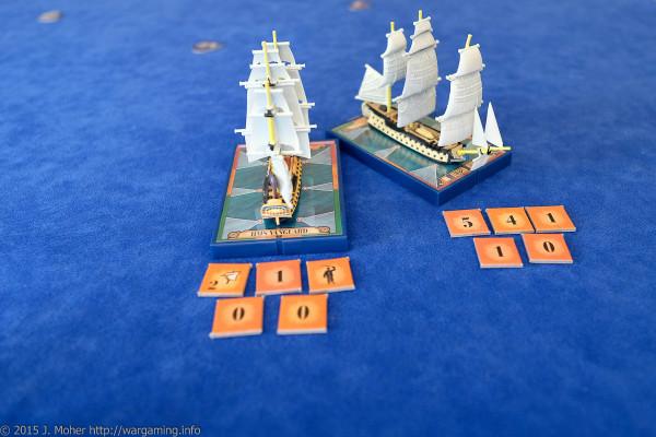 Généreux vs. HMS Vanguard