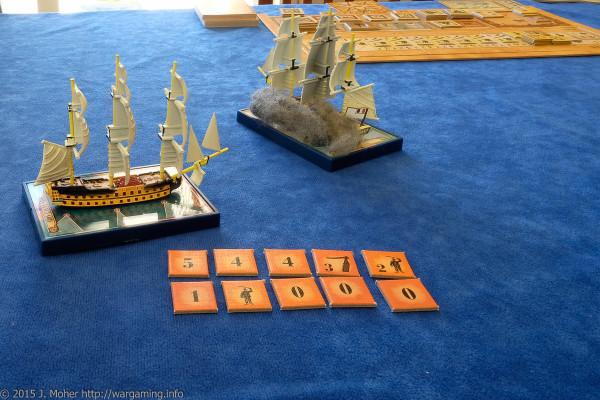 Audacieux vs. HMS Vanguard Wargaming.info