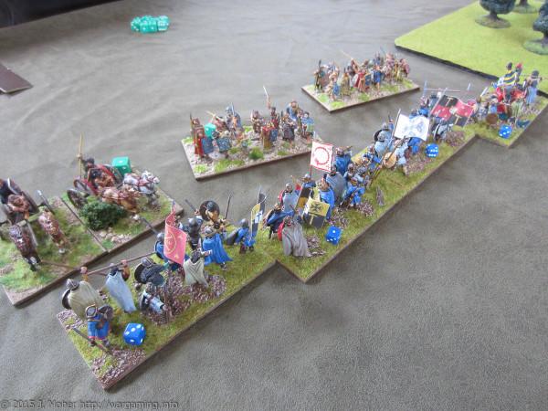 Carolingians vs. Picts Battle 1 wargaming.info
