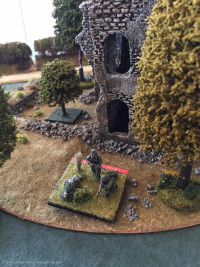 Leading German Squad moves through the ruins...