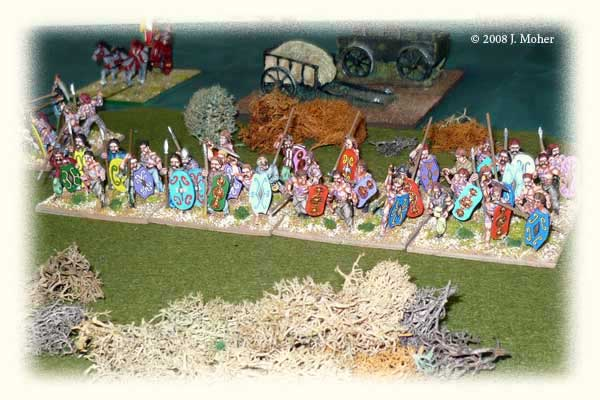 Tigurini Gaul Warband deploy in the central marsh.