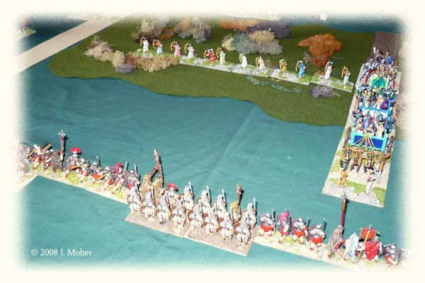 Kushite Chariots emerge along the secret trail to waiting Praetorians & Legionaries!