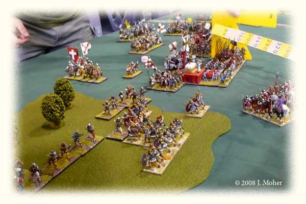 Looking from the Roman left as the Auxilia unsuccessfully try to clear the German light troops from the woods, and Caesennius advances his Legion obliquely forward.