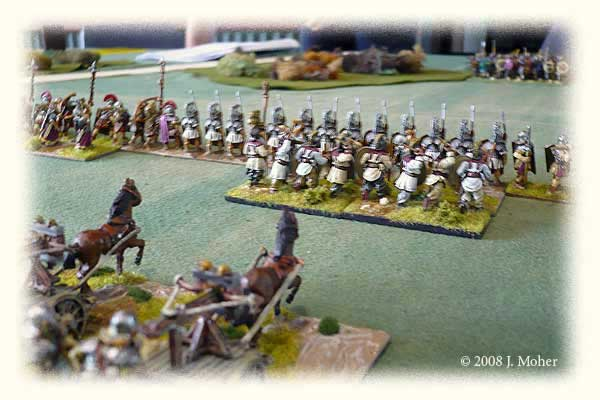 Slightly out of focus Roman centre looking toward the Sabir Hun infantry.
