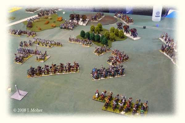 The chaos begins on the Roman right!