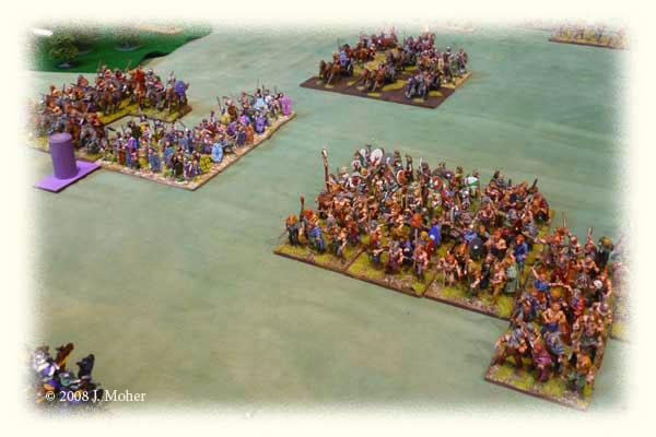Gallic Tigurini & German Cimbri Warbands advancing 102BC.