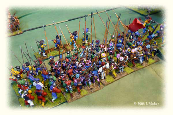 German Landsknecht Pikemen from a Medieval Scandinavian army.