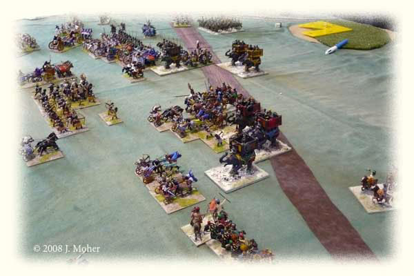 Kushite Egyptians face off against Sassanid Persians.