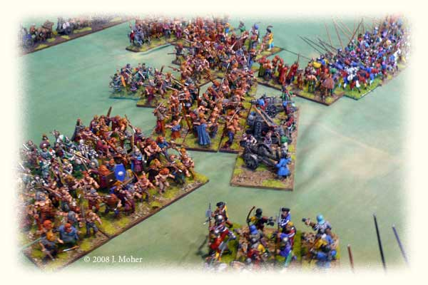 Cimbri & Tigurini Warbands break into the heart of the Medieval Scandinavian Army at night.