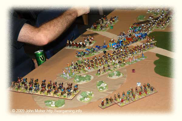 The Kushan C-in-C's Command on the left flank closes in.