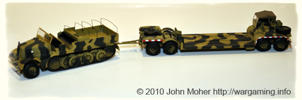 Sdkfz 9 18-ton FAMO Half-Track with Tank Transporter Trailer