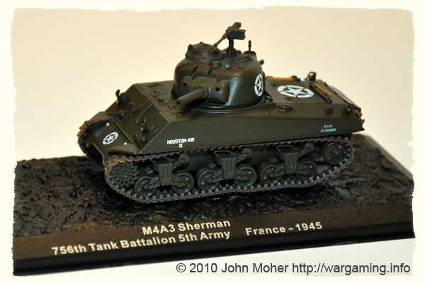 Issue 3: M4A3 (105mm) Sherman, 756th US Tank Battalion, France 1945.