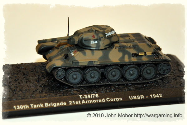 Issue 6: T-34/76 Model 41, 130th Tank Brigade, 21st Tank Corps, USSR 1942.
