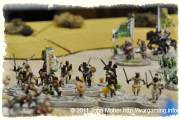 Dervish 'Green Flags' charge the exposed left flank of the Yorkshires Company