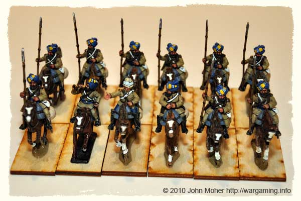 Sikh Bengal Lancer Squadron - All Perry Miniatures except for the Bugler.